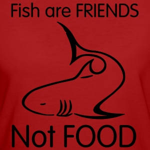 shark art fish are friends T-shirts - Ekologisk T-shirt dam