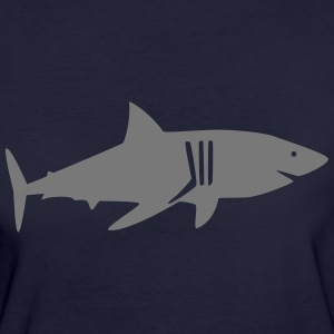 shark drawing T-shirts - Ekologisk T-shirt dam