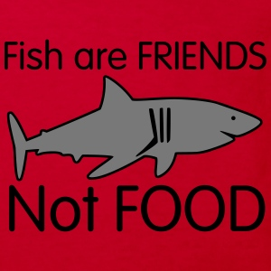 Shark Cartoon Fish are Friends T-Shirts - Kinder Bio-T-Shirt
