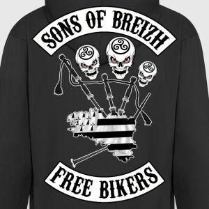 sons of breizh bikers 3 Sweat-shirts - Veste à capuche Premium Homme
