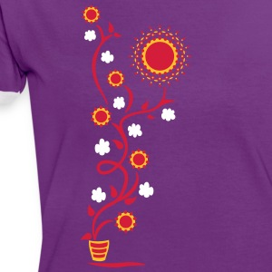 The Sun Shines Here ! Sunflower, Ranke, 3c T-Shirts - Women's Ringer T-Shirt