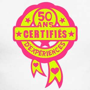 50 ans anniversaire certifie experience Tee shirts manches longues - T-shirt baseball manches longues Homme