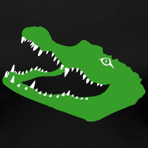 krokodil crocodile kroko alligator T-Shirts - Frauen Premium T-Shirt