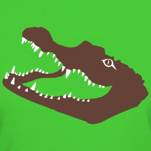 krokodil crocodile kroko alligator T-Shirts - Frauen Bio-T-Shirt