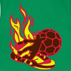 handball player chaussure shoe flamme Tee shirts - T-shirt Premium Femme