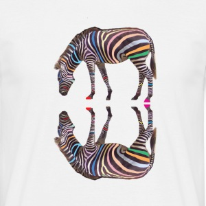 Rainbow Zebra T Shirt - Men's T-Shirt