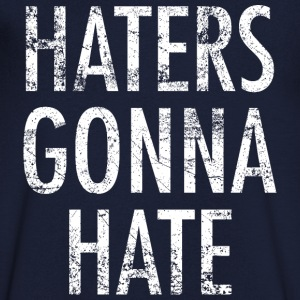 Haters gonna hate vintage blanc - T-shirt Homme col V