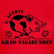 Motiv ~ T-Shirt Damen: Glücksschwein (schwarzer Aufdruck)