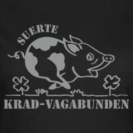 Motiv ~ T-Shirt Damen: Glücksschwein (silberner Aufdruck)