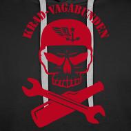 Motiv ~ Kapuzenpulli Männer - Totenkopf, Pulle & Schraubenschlüssel (roter Aufdruck)