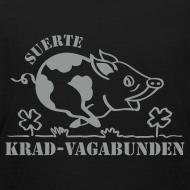 Motiv ~ Kinder-T-Shirt - Glücksschwein (silberner Aufdruck)