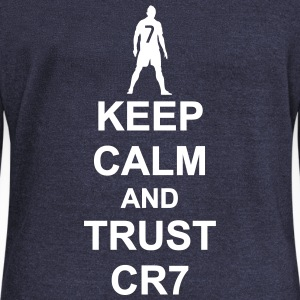 Keep Calm and Trust CR7 - Women's Boat Neck Long Sleeve Top