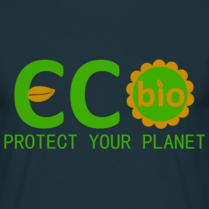 eco bio protect your planet T-Shirts - Men's T-Shirt