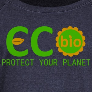 eco bio protect your planet Sweat-shirts - Pull Femme col bateau de Bella