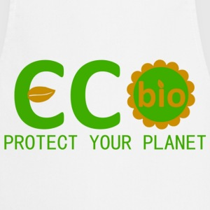 eco bio protect your planet Delantales - Delantal de cocina