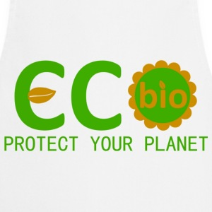 eco bio protect your planet Kookschorten - Keukenschort