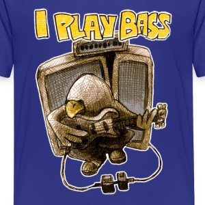 i play bass T-Shirts - Teenager Premium T-Shirt