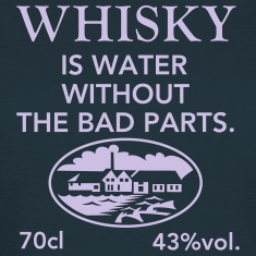 Whisky is water, Label T-Shirts