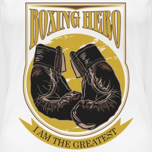 Boxing Hero - The Greatest  T-shirts - Dame premium T-shirt