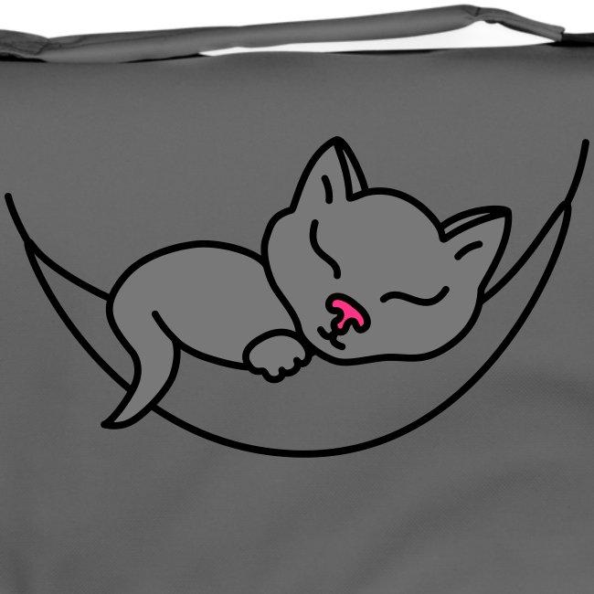 Schlafende Katze - Umhängetasche