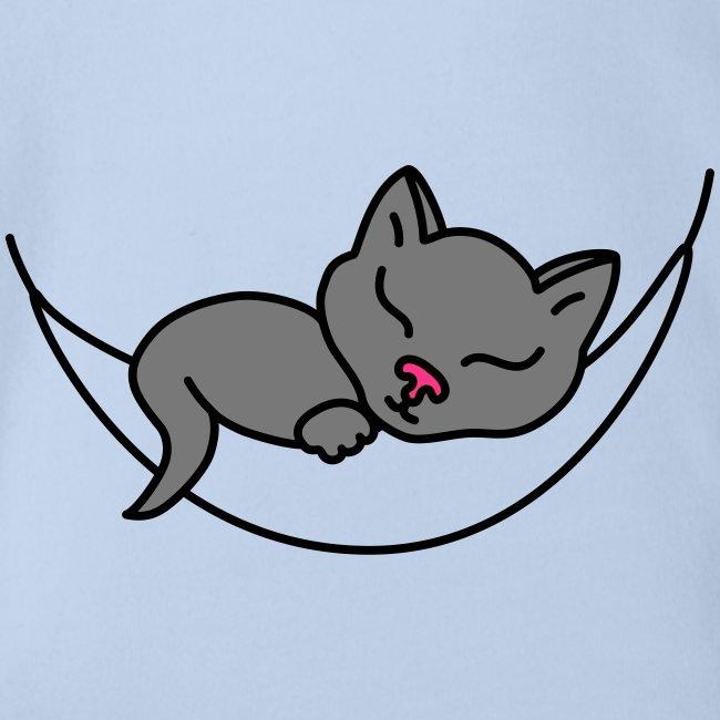 Schlafende Katze - Babybody