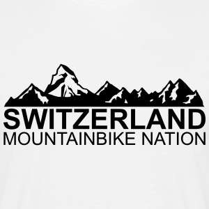 switzerland mountainbike nation T-Shirts - Männer T-Shirt