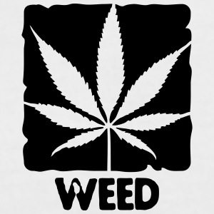 weed with boxed leaf T-shirts - Kontrast-T-shirt dam