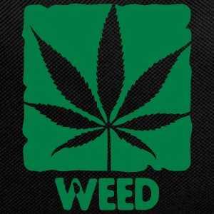 weed with boxed leaf Bags & backpacks - Backpack