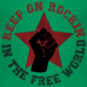 Keep on rockin in the free world T-Shirts - Teenager Premium T-Shirt