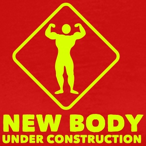 new body under construction 1c T-shirts - Herre premium T-shirt