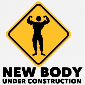 new body under construction 2c T-shirts - Herre premium T-shirt