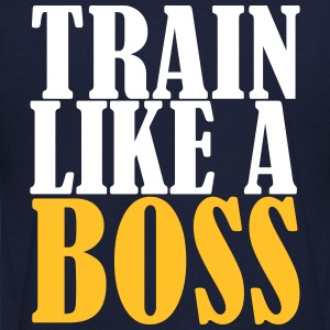Train Like A Boss Camisetas - Camiseta de pico hombre
