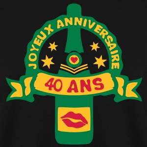 40 ans anniversaire bouteille champagne Sweat-shirts - Sweat-shirt Homme