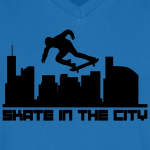 Skate in the city Camisetas - Camiseta de pico hombre