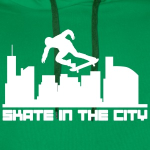 Skate in the city Sweatshirts - Herre Premium hættetrøje