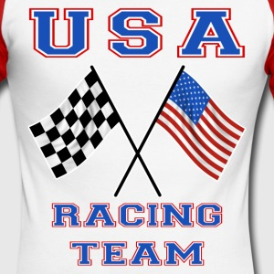 usa racing team Tee shirts manches longues - T-shirt baseball manches longues Homme