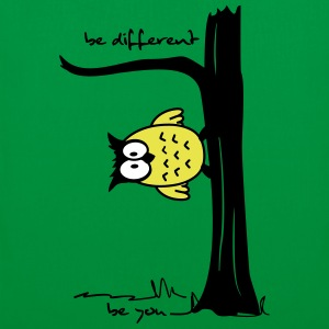 Eule auf Baum be different, be you Taschen - Stoffbeutel