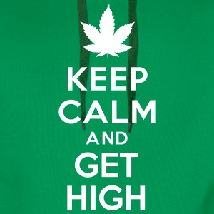 Keep calm and get high Sweat-shirts - Sweat-shirt à capuche Premium pour hommes