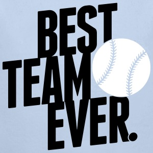 best team ever - baseball Pullover & Hoodies - Baby Bio-Langarm-Body