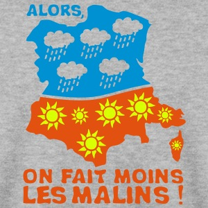 carte france inverse soleil moins malins Sweat-shirts - Sweat-shirt Homme