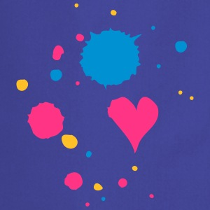 Blobs of paint, drop and heart  Aprons - Cooking Apron