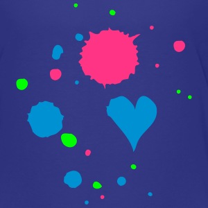 Blobs of paint, drop and heart Shirts - Teenage Premium T-Shirt