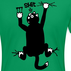 cat hanging on T-Shirt - Shit [2 color] T-Shirts - Women's Premium T-Shirt