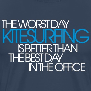 Kiting vs. Office - Männer Premium T-Shirt