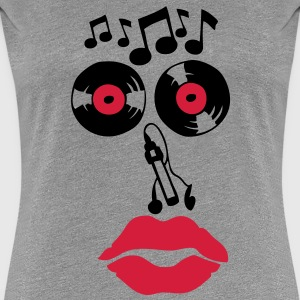 smiley disque 33 tours music note cle Tee shirts - T-shirt Premium Femme