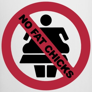 NO FAT CHICKS BUTTON Bottles & Mugs - Beer Mug