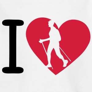 love marche nordique4 nordic walking bat Tee shirts - T-shirt Enfant