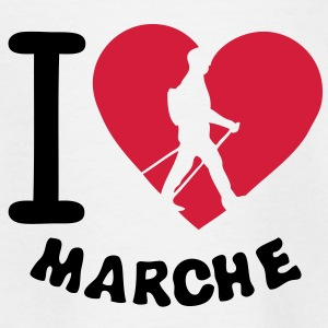 love marche nordique2 nordic walking bat Tee shirts - T-shirt Enfant