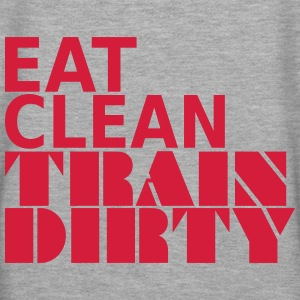 Eat Clean Train Dirty Sudaderas - Sudadera con capucha premium para mujer