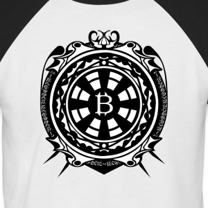 Bitcoin Black Sleeve - Men's Baseball T-Shirt